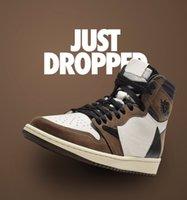 2021 Authentische Travis Scott X 1s High Og TS SP 1 Outdoor Schuhe Segel Dark Mokka Fragment Universität Blauer Kaktus Jack Dunk Britisch Khaki Playstation Sneakers US7-13