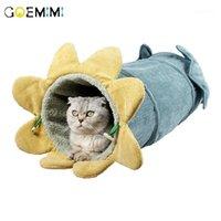 الدافئة القط النفق طوي الحفاظ على الدافئة القط خيمة الحفر برميل الحيوانات اللعب الخريف الشتاء البيت لعبة للقطط 1