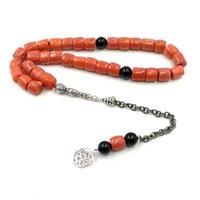 Tasbih Natural Coral Big Size Valuable gift Eid deep sea coral Muslim jewelry Fashion islamic Favorites Bracelets