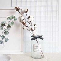 Искусственная цветочная зелени 53см Искусственная белая хлопчатобумажная ветвь моделирования цветок свадебные украшения кухонные аксессуары для вечеринки поставляет домашний декор BIN0