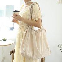Evening Bags Women Large-capacity Solid Color Shoulder Bag Casual Nylon Handbag Fashion Fold Messenger Ladies Luxury Designer