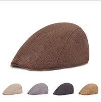 Keten Bere İngiliz Retro Ördek Dil Bereliler Katı Renk İleri Şapka Rahat Moda Şapkalar Yaz Gelişmiş Caps WMQB899