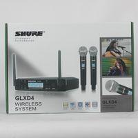Marca UHF Dual Sistema de Microfone Sem Fio GLXD24 / BETA58 GLXD4 GLXD2 MIC para a fase da igreja Mais canal do que os microfones pgx24