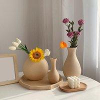 زهرة خشبية زهرة الرجعية الفن زجاجة لغرفة سطح الطاولة حلية ديي الملونة اللوحة النبات وعاء الشمال المنزل حديقة ديكور المزهريات