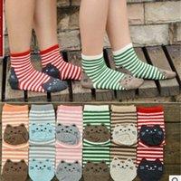 Karikatür Kadın Çorap Moda Kore Stirpe Kedi Pamuk Yetişkin Çorap Sevimli Faiz Çizgili Genç Diz-Çorap Ucuz Çorap W026