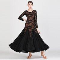 Vestido de baile del salón de ball de encaje Accesorios de prendas de vestir de las mujeres Trajes de vals Traje de arrastre Diseñador Tango Dancewear JL2700 Use