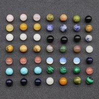 20 pcs solto gemstone beads 8mm 10mm 12mm rodada semi preciosas solta pedra natural grânulos quartzo cores mistas para jóias fazendo 900 Q2