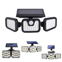 Lampada da parete solare Sensore di movimento Sensori di sicurezza LED Light Super Bright Regolabile 90 ° con 3 modalità per Garden Garage Porch Yard