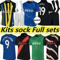 21/22 The Toffees Soccer Jerseys # 19 James Men Kids Kit Set Camicia da calcio # 7 Richarlison Kean Davies Uniformi 1987 88 94 95 Retro Jersey