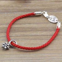 Bracelet Fashion Designer Luxury Ch\Hearts Jewelry 925 Sterling Sier Six Awn Star Leather Rope Buckle Brand Men's Korean Version Personality Red Women's Sweet
