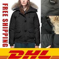Winter Parka Part Женщины Мужчины Мужчины Wolf Меховые Канада Канада Даун Куртка Верхняя одежда Верхняя одежда Верхняя одежда 90% Белые Утиные Пальто