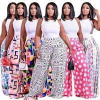 Kadınlar Casual Gevşek Pantolon Geniş Bacak Pantolon Yaz Pantolon Sonbahar Giyim Moda Streetwear Artı Boyutu XL-4XL