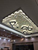Пользовательские светодиодные Crystal Crystal Chastelier Hotel Lobby Потолочные светильники Ювелирные изделия Лампы Виллы Гостиная Ресторан Банкетный зал Проект Проект Департамент Департамент