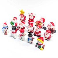 귀여운 미니어처 페인트 크리스마스 장식 산타 클로스 눈사람 크리스마스 트리 장면 장식 선물 케이크 추가 홈 장식