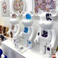 Bearbrick 1000% aşınmış kristal yapı taşları şiddet ayı oturma odası dekorasyon bebek el yapımı 70 cm