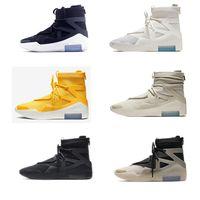 2021 Fee King Shoe 1 Basquillo de baloncesto de DIOS Zapatos Off Hombres Mujeres Niebla Negro Amarillo Blanco Deportes Sneakers Botas Entrenadores 40-45