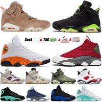 Jumpman classique 6 Chaussures de basket-ball 6s Electric 6s Britannique Kaki 13 13S Rouge Flint gris Hyper Royal Hommes Sports Sneakers Sneakers