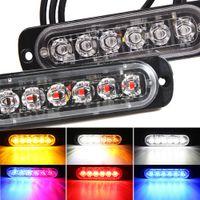6LED 자동차 측면 마커 조명 트럭 스트로브 램프 LED 구급차 경찰 Flasher 비상 건설 SUV 차량 오토바이를위한 경고등