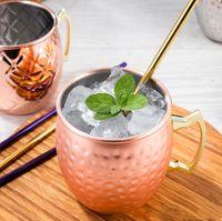 MUSCOW MULE MUSE in acciaio inox tazza di birra in acciaio inox oro rosa argento rupe tazza martellata rame placcato barra bevanda bevanda tazze ZZC7708