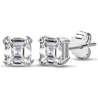 Stud 1 Carat Sterling Silver 925 Brincos De Pedra Moissanite Para As Mulheres Passado Teste com GRA Certification Fine Jewelry