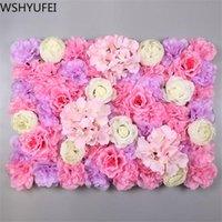 Fleurs décoratives Couronnes Wshyufei 40x60cm Silk Rose Flower Grass Mur Champagne Décoration artificielle Décoration de mariage romantique