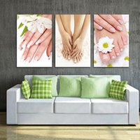 Paintings 3 Pieces Unframed Foot Spa Nail Flower Wall Art For Living Room Canvas Picture Print Home Decor