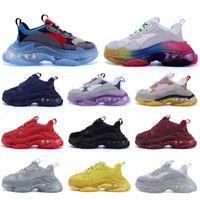 Корзины Luxurys Дизайнеры Balencaiga Женщины Платформа Обувь Triple S Белый Черный Зеленый Кристалл Дни на дна Мужчины Повседневная Обувь Мужские Тренеры Размер 36-45