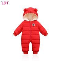 ЛЖ дети зимний комбинезон для детских снеговиков младенческих мальчиков девочек ползунок теплый комбинезон рожденной одежды рождественский костюм 210826