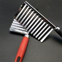 Pepino de batata ondulado ondulado faca de cozinha inoxidável gadget vegetal ferramenta de corte acessórios de cozinha frita frita máquina