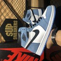 Nike Air Jordan 1 Travis Scotts x Hohe Basketballschuhe UNC University Blue Chicago Obsidian Royal Toe Zerschmetterte Männer Frauen Sport Sneaker mit Box