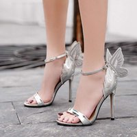 Women's Summer Embroidery Butterfly Sandals Casual Wings High Heels Shoes women gladiator