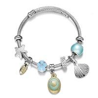 Lien, chaîne océan shell vent titane bracelet en acier constellation ajustable fil cheveux cheveux