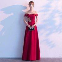 Вечернее платье женский новый банкет ежегодное собрание Высокий темперамент, обычно может носить вино красный хозяин тосты одежды