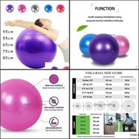Forniture per il fitness Sport AdolbilnersFitness Balls Yoga Sfera Aspesa A Proiatura Esplosione Esercizio Gym Palestra Attrezzatura di Pilates 45cm / 55cm / 65 cm / 75 cm /