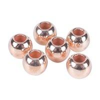 30-100pcs / lot DIA 4 6 8 10 12MM Gold Silver Beads Beads Beads Accessoires Grand trou CCB Spacer Des perles en vrac pour la fabrication de bijoux 1367 Q2