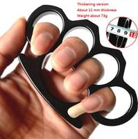 Finger Thickened Metal Tiger Safety Defense Four Finger Knuckle Weapon Selfdefense Equipment Bracelet Edc Bracelet Tool Hw