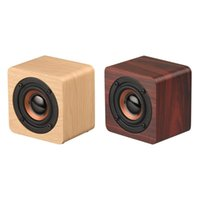 Portable Speakers Q1 Wooden Bluetooth Speaker Wireless Subwoofer Bass Powerful Sound Bar Music For Smartphone Laptop