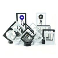 التعبئة والتغليف jewelry3d العائمة مجوهرات عرض الظل مربع مع حامل إطار الصورة خواتم قلادة قلادة العملات المعدنية ميداليات حالة عرض D
