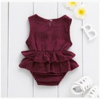 Baby Girl Cotton Romper Newborn Infant Baby Girl Clothes Long Sleeve Romper Cotton&Linen Jumpsuit Princess Fall New Born Outfits 151 Q2