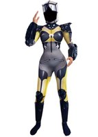 Anime Robot Cosplay Costume Machine Dance Role-playing Stretch Skinny Leotard Yellow Pattern Long Sleeve Jumpsuit Armor Outfit