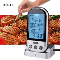 Kitchen Timers Household Digital BBQ Thermometers Wireless & Timer Oven And Grill Cooking Remote With Long Probe Tools