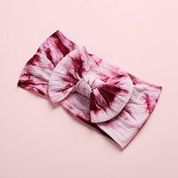12 colores accesorios de banda de pelo corbata teñido arco nudo bohemio niños headwear chicas creativas diadema 3 05fh k2