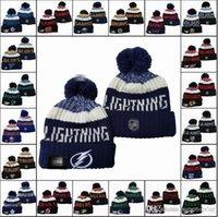 Mode ALLE TEAM HOCKEY MANIES TEAM Bestickte Eishockey Mühred Strick Hut Sport Schädel Stricken Winter Hüte Für Männer Frauen