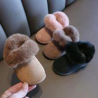 Boots Boys Girls Snow Winter Warm Kids Ankle Booties Plush Slip-on Outdoor Baby Toddler Children Rainboots Sport Shoe