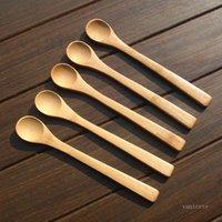 30pcs / lot 19cm Cucchiaio di legno Ecofriendly Giappone Tableware Bamboo Cucchiai Caffè Miele Tea Mestolo Agitatore Dinnerware ScoopZC264