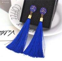 Boho Crystal Dong Tassel Серьги для женщин Этнические Геометрические Розы Цветочный Знак Серьги Серьги 2019 Мода Ювелирные Изделия 92 K2