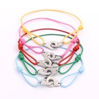Titanium Steel Hand Rope Jewelry Wholesale Color Rope Titanium Steel Handcuffs Bracelet Adjustable Length Silver Buckle Bracelet