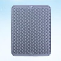 Silicone Dish Mat Wave Pattern Heat- insulation Placemat Insu...