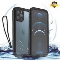 Per iPhone 12Pro Max custodia per telefoni impermeabile per iPhone 11 Pro Max XR XS Max nuoto croup per immersioni subacquee per iPhone 8 7 6S SE PLUS PLUS PHONE SILICONE COQUE