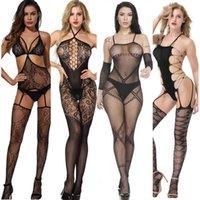 5pcs jouets sexuels pour femmes sexy lingerie de passion costume transparente tentation ouverte bas filet uniforme sous-vêtements femme Y0911 Y0911